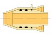 Раструбно-шиповое соединение с двойным кольцевым уплотнением и стопорным элементом